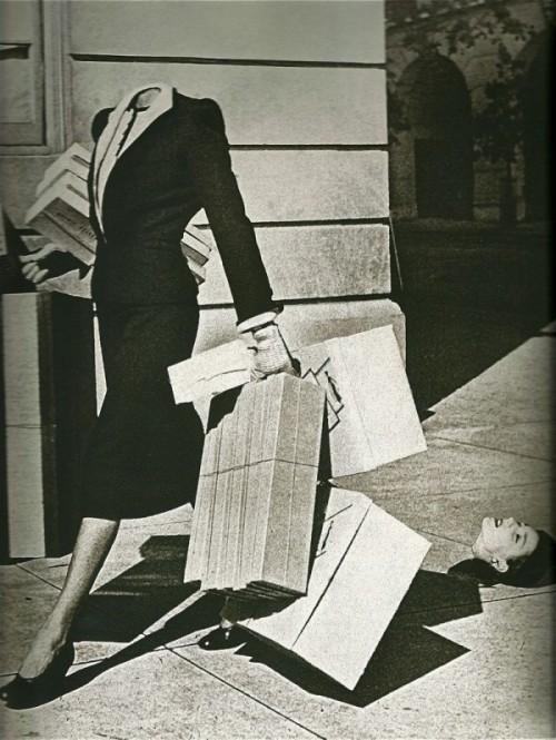 unconsciouskoine:  Bazar da Harper, 1939. Fotografia de Herbert Matter.  Y pensar que lo mio era innovación…