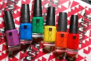 rainbow of cnd nail polishes