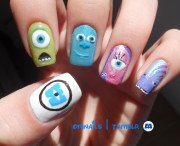 omnails monsters nail art