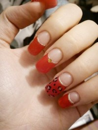 Red nail design | Tumblr