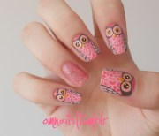 lace nail art omnails owl