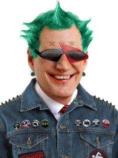 David Letterman Comdy's Punk Rocker