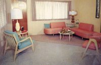 The Nifty Fifties  A 1950s furniture store postcard ...