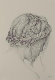 > braided hair