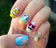 polished beach nails