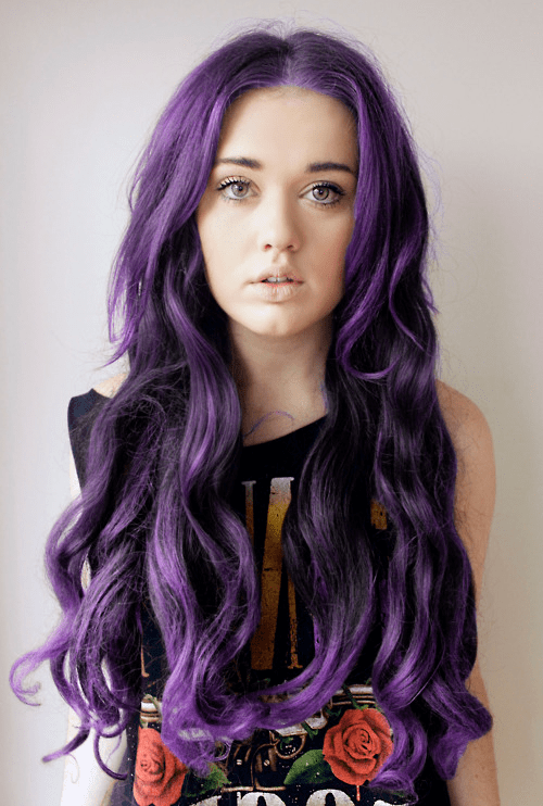 Cute Girl With Purple Hair : purple, Photography, Apple, Purple, Antlers