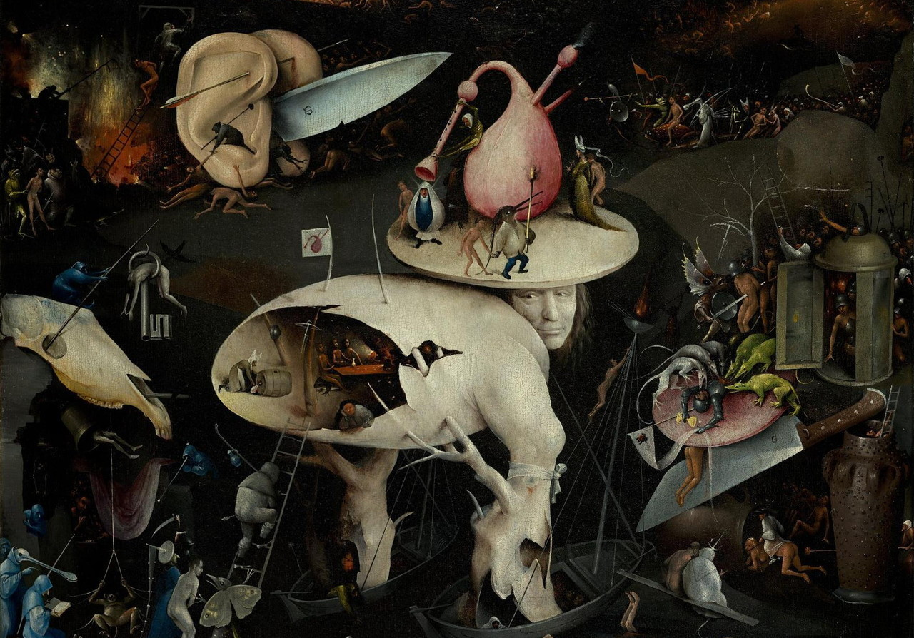 Hieronymus Bosch, The Garden of Earthly Delights (detail), c. 1500