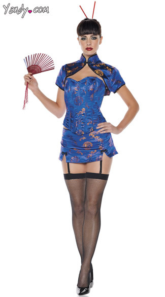 Blue China Doll costume…right…