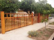 fence + gate angle view