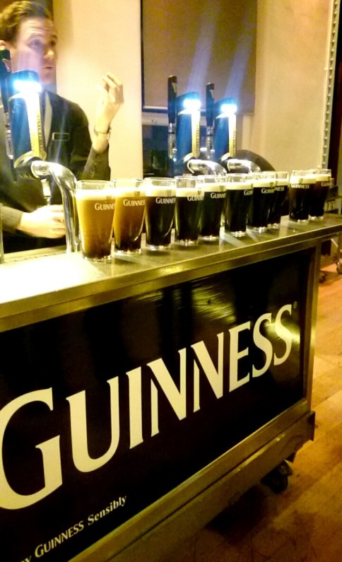 """There's a lot to do at the Guinness factory, including learning how to pour the """"perfect pint."""" You learn to do this in groups of about 12. 10 out of the 12 people in our group were from the U.S."""