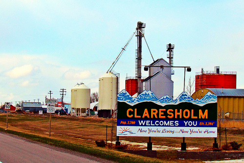 Claresholm Sign