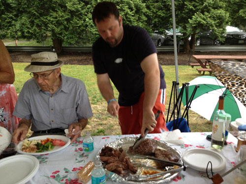 Father's Day 2012 - Cutting Flank Steak