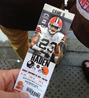 2012 Game #8 - Browns Vs. Steelers