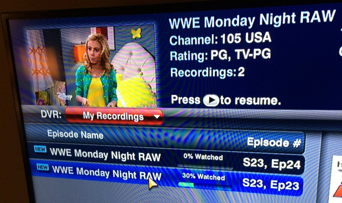 RAWs In The DVR