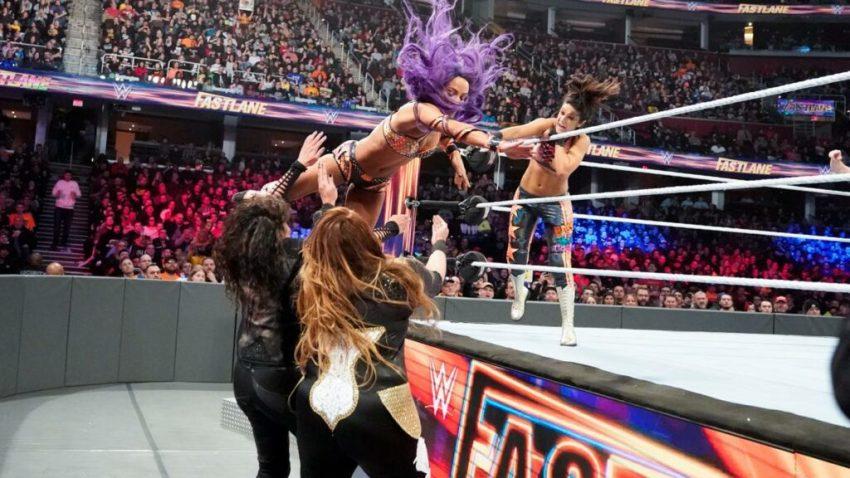 Fastlane 2019 - Bayley and Sasha Banks vs Nia Jax and Tamina