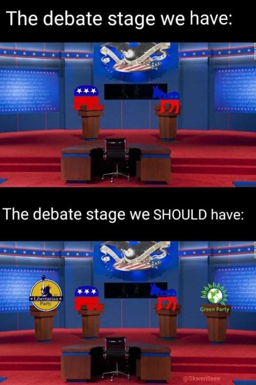 The Debate Stage We Have