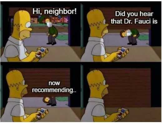 Simpsons Hi Neighbor Did You Hear Dr Fauci Now Recommending