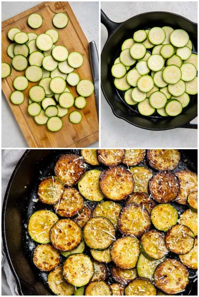 Instructions for sauteing zucchini