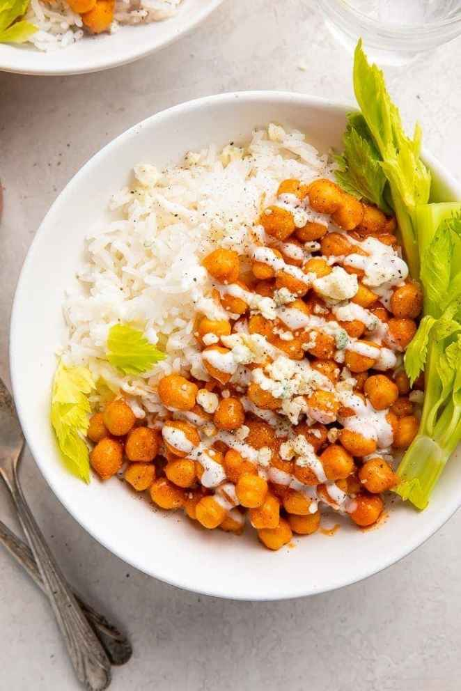 Buffalo chickpea bowl