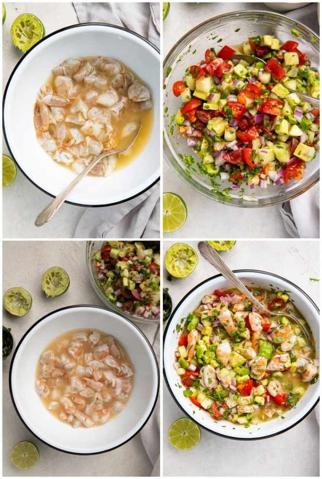 Instructions for shrimp ceviche