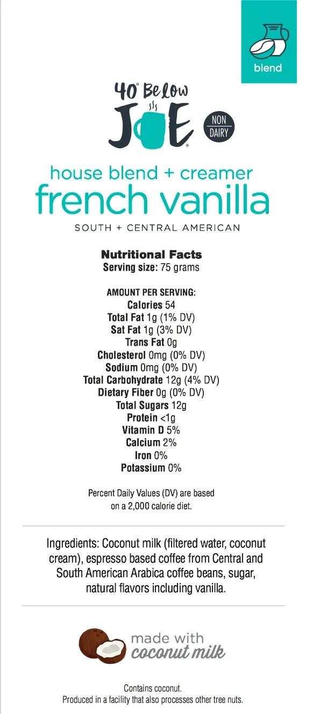 French Vanilla Blend Ingredients