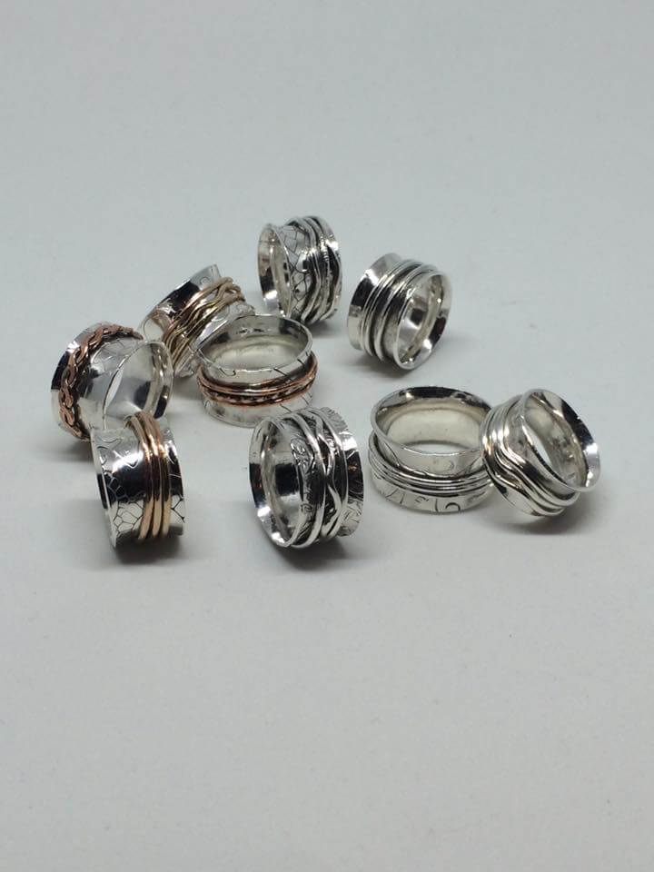Intertwined Designs by Amy Spinner Rings