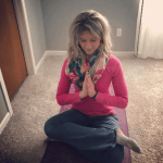 Melissa McNallan Doing Yoga at Home