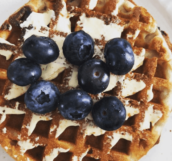 Kodiak Cakes Blueberry Chia Seed Waffles