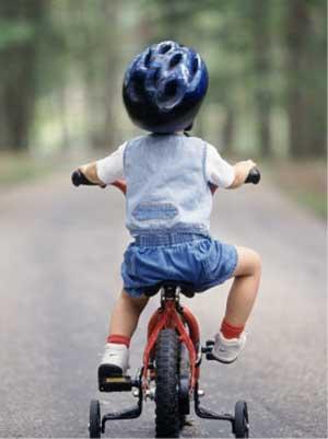 Bicicleta con rueditas