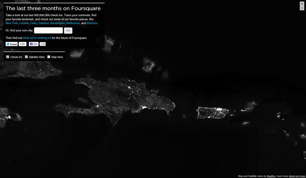 Vista de las islas de La Hispaniola y Puerto Rico
