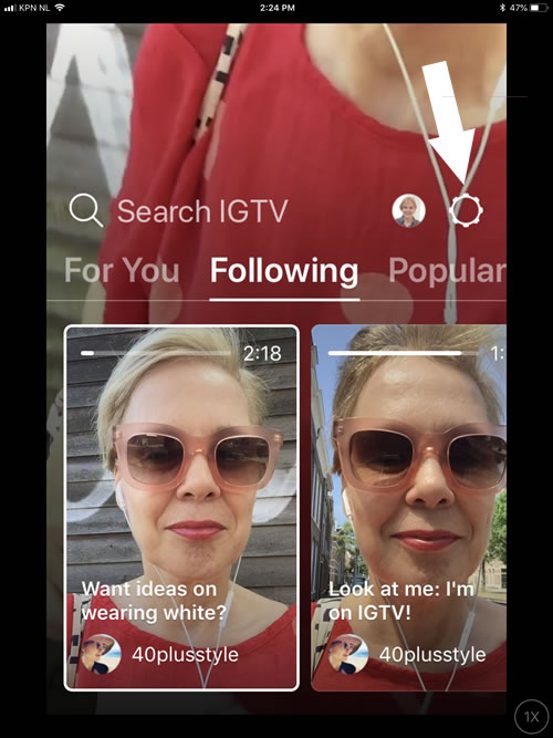 Change your settings in IGTV | 40plusentrepreneur.com