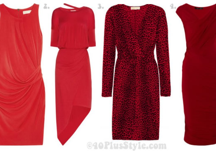 Red Dresses For Women Over 40