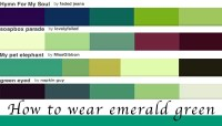 How to wear green: colour of the year emerald green