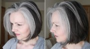 women with fabulous mid long gray