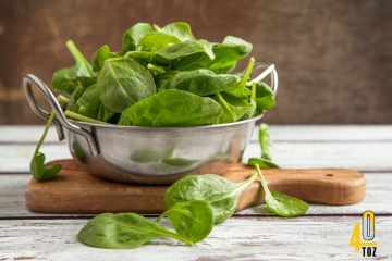 Spinat – Nährstoffe und Kalorien