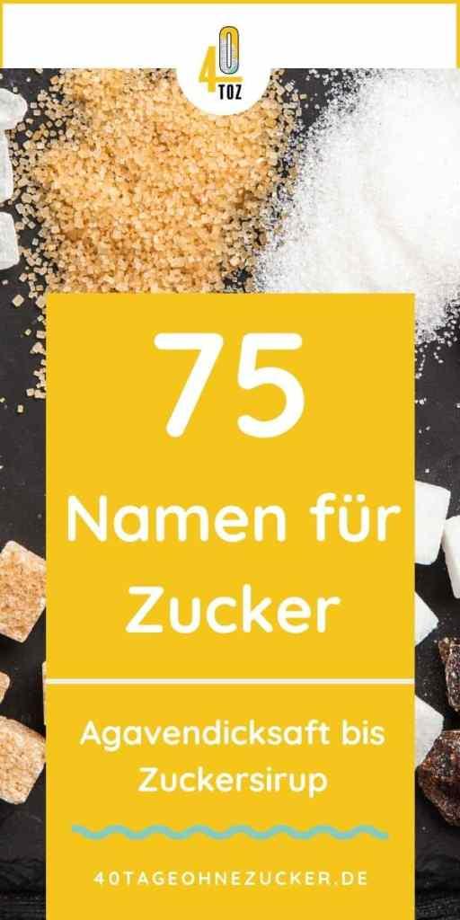 75 Namen und Bezeichnungen für Zucker