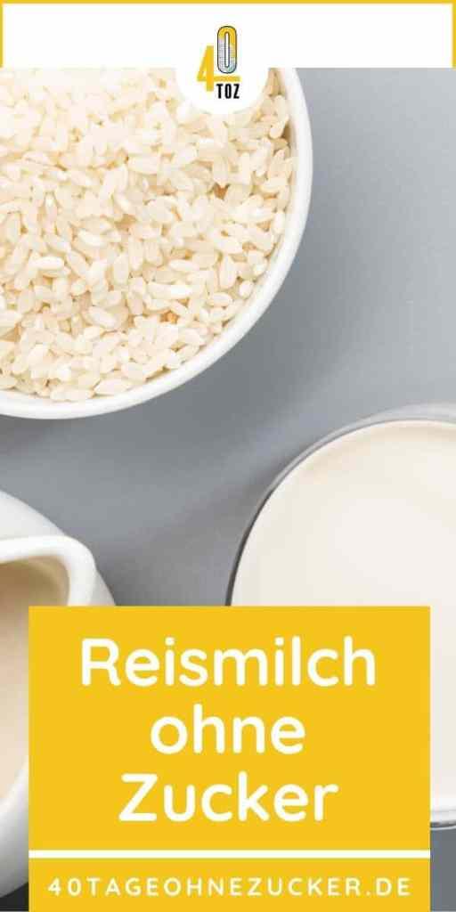 Reismilch ohne Zucker
