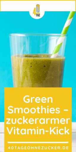 Green Smoothies - ein zuckerarmer Vitamin-Kick