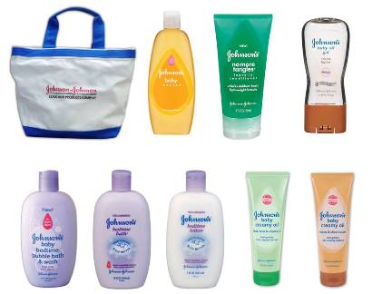 Johnson's Baby Gift Bag Full of Baby Care Products