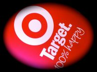 White Target logo on Red