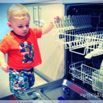 Indy playing on the dishwasher prt 2
