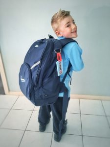 School bag almost the size of a child
