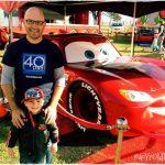 Dadda and Indy meet Lightning McQueen.