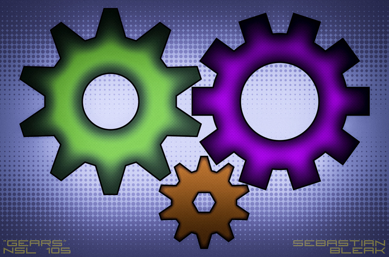Vector Gears Adobe Illustrator