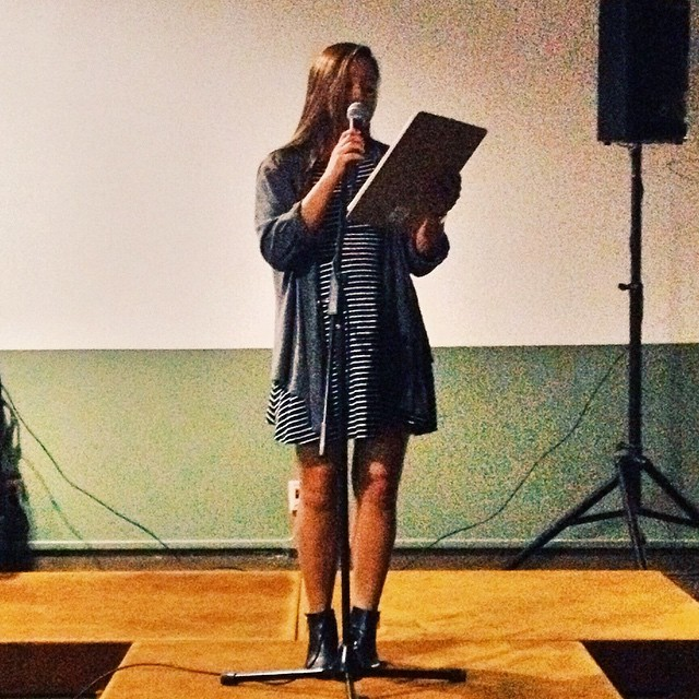 Thank you, friends, for supporting me in my first spoken word experience🌷 #poetry