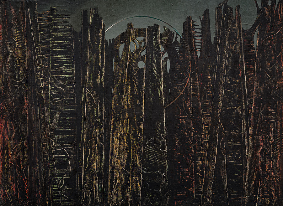 thunderstruck9:  Max Ernst (German/French, 1891-1976), La forêt [The Forest], 1927-28. Oil on canvas, 96.3 x 129.5 cm. via 1910-again