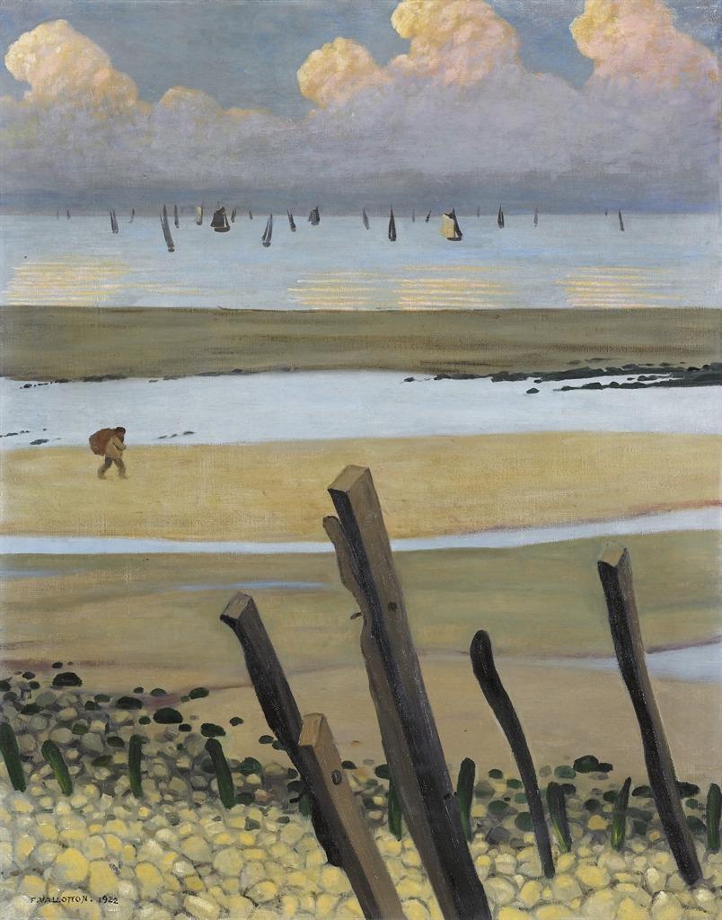 thunderstruck9:  Félix Vallotton (Swiss, 1865-1925), Marée basse à Villerville [Low tide at Villerville], 1922. Oil on canvas, 91.5 x 73.5 cm.