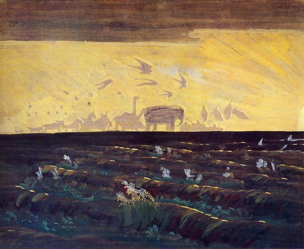 lilacsinthedooryard:  Mikalojus Ciurlionis Adoration of the Sun 1909