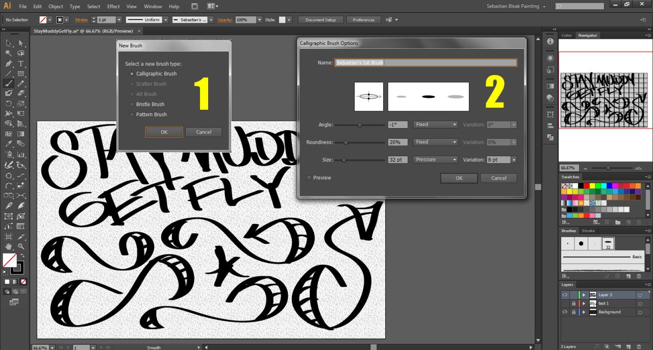 Adobe Illustrator Calligraphic Brush