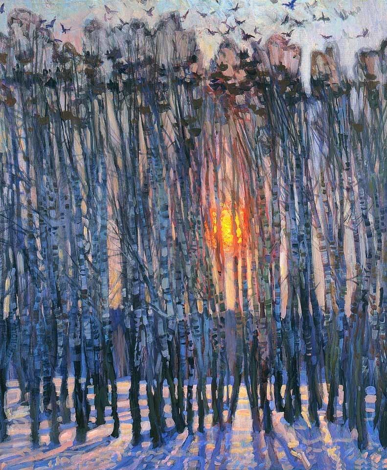 iamjapanese:  Mikhail Georgievich Abakumov (Абакумов Михаил Георгиевич Russian, 1948-2010) Кричит весна (Screaming Spring) via